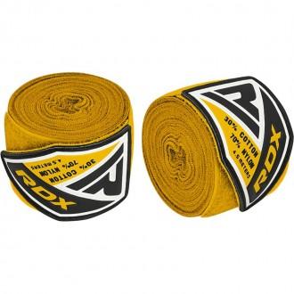 RDX 4.5m Elastické boxerské bandáže - Žlté