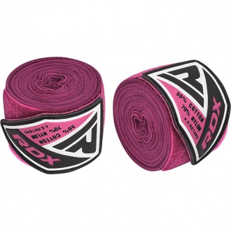 RDX 4.5m Elastické boxerské bandáže - Ružové