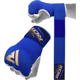 RDX Boxerské Gélové bandáže - Modré