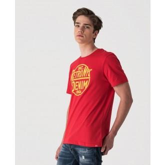Retrojeans pánske tričko DEVIL - Červená