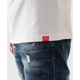 Retrojeans pánske tričko HOUSTON - Biela
