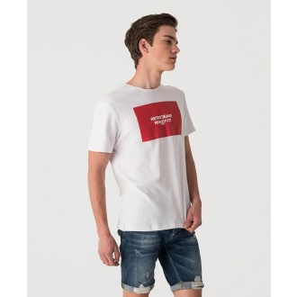Retrojeans pánske tričko LIAM - Biela